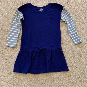 Old navy tee shirt dress with striped sleeves sm